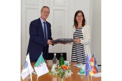 """Treffen mit Frau Clara Gruitrooy, Generalsekretärin des Euro-Mediterann-Arabischen Landesvereins""""(EMA) Berlin, 02.07.2019"""